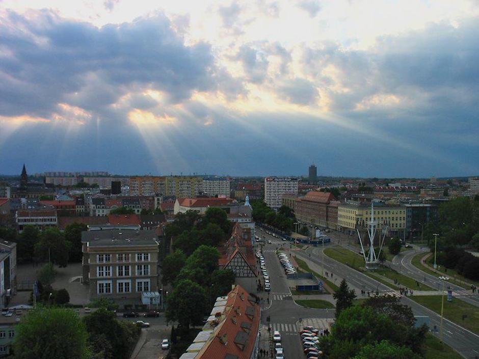 Budynek TVP na horyzoncie - autor zdjęcia: Agata Wołyńska