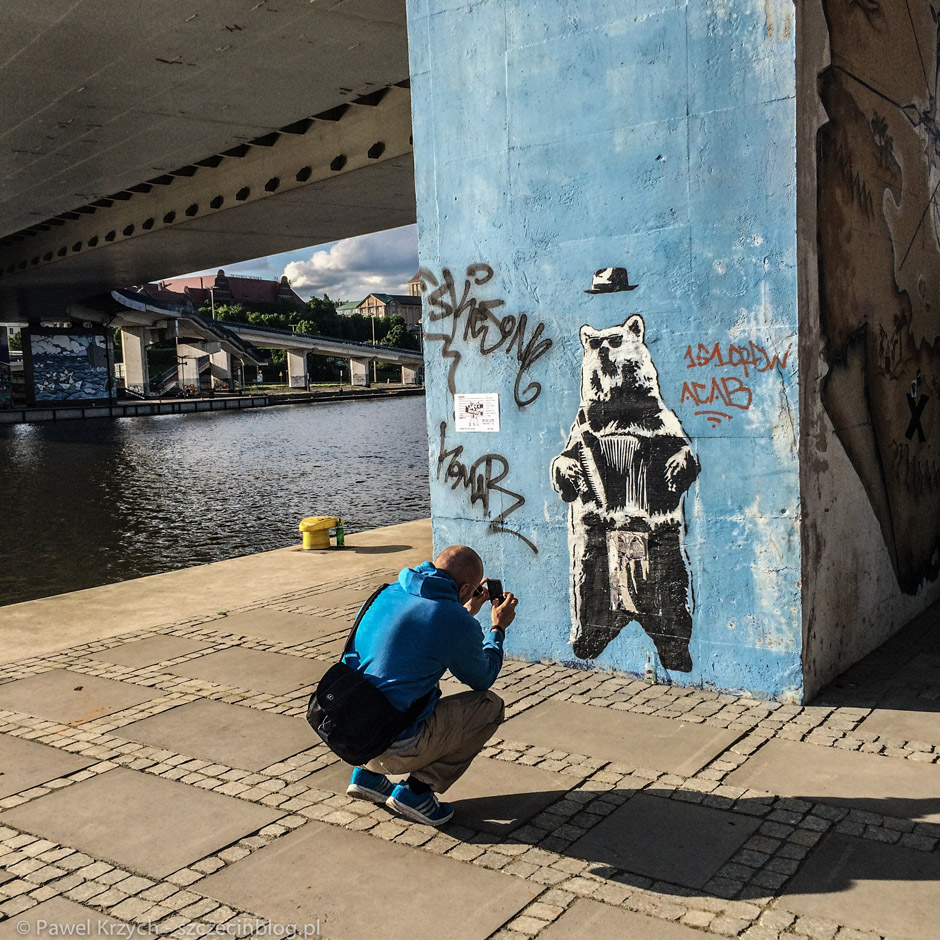 Jeden z moich ulubionych street artów z ostatniego rzutu.