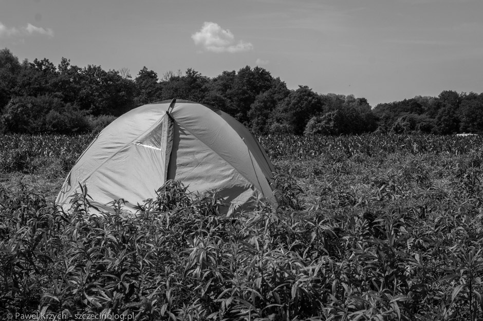 Samotny namiot...