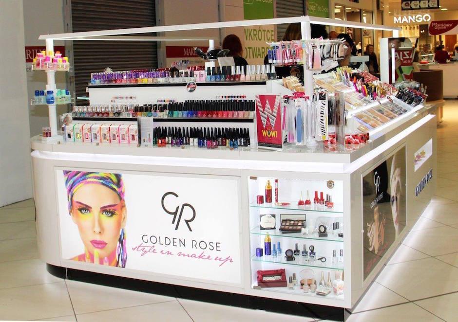 Poziom 0 - stoisko Golden Rose. Jest wyłącznym dystrybutorem kosmetyków kolorowych produkowanych przez firmę Erkul Cosmetics.