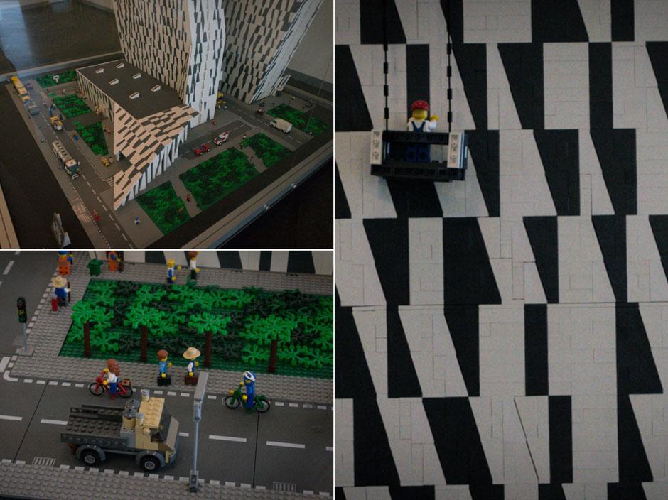 Przyjrzałem siędokładnie - no oczywiście! W końcu jesteśmy w Danii, to makieta musi byćzbudowana z LEGO!