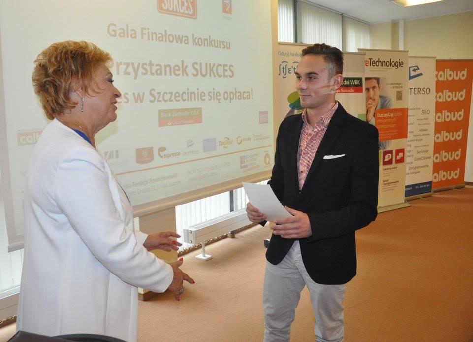 Patryk Wachnik właściciel Przerwy z Prezes Zarządu PFP Barbarą Bartkowiak